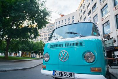VW kombi van front with emblem