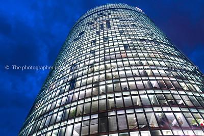 Towering building windows