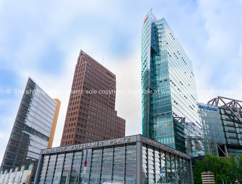 Three distintively different architecturalhigh-rise buildings