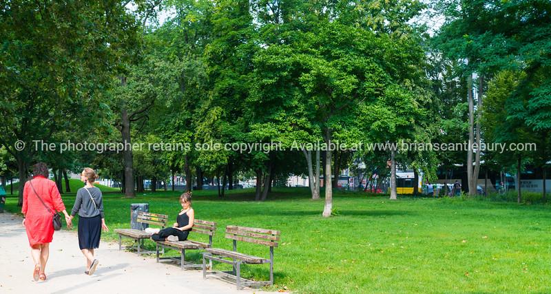 People in Monbijou Park, Berlin Germany