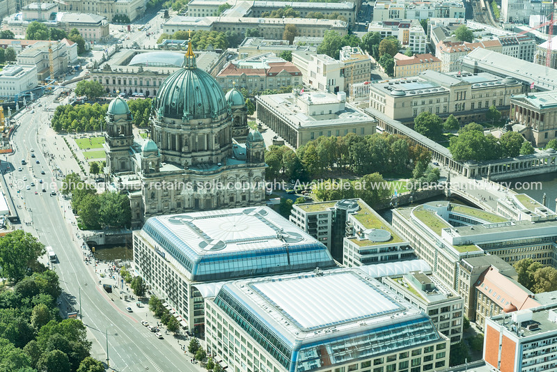 Berlin ciryscape with Museum Island and Berlin Cathedral