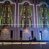 Lights of Freidrichestrasse Theater Berlinat night.
