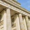 Low point of view image neo-classical architectural columns