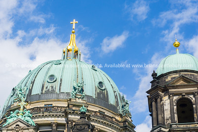 baroque architecture of cathedral behind visitors and tourists