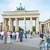 Tourists arrive in large numbers daily to see and photograph the symbol of old communism, Brandenburg Gate