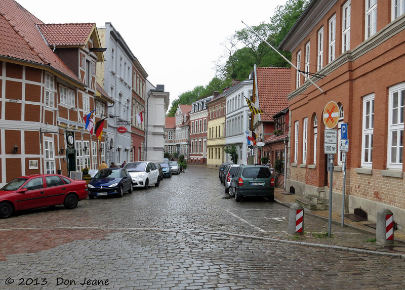 Lauenburg charming city streets. May 18, 2013.  Entering the old town from the East.
