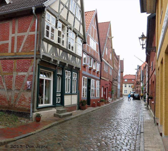 Lauenburg charming city streets. May 18, 2013.