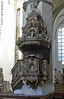 Pulpit of St Mary's Lutheran Church, Rostock. May 23, 2013.