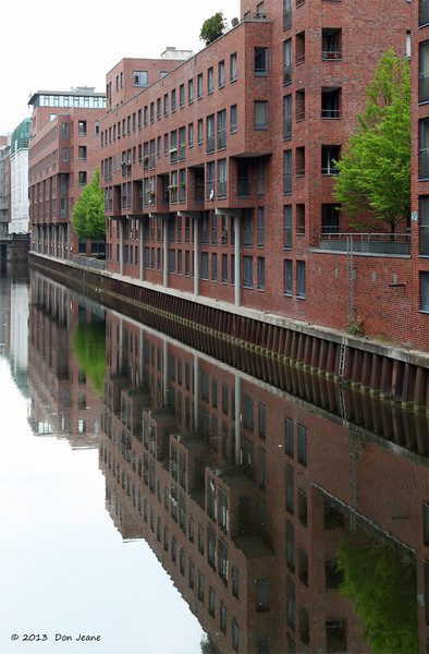 Hamburg canals, May 17. 2013. Some old, some new architecture.