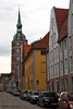 Stralsund City streets, May 24, 2013. Rathaus in the background.