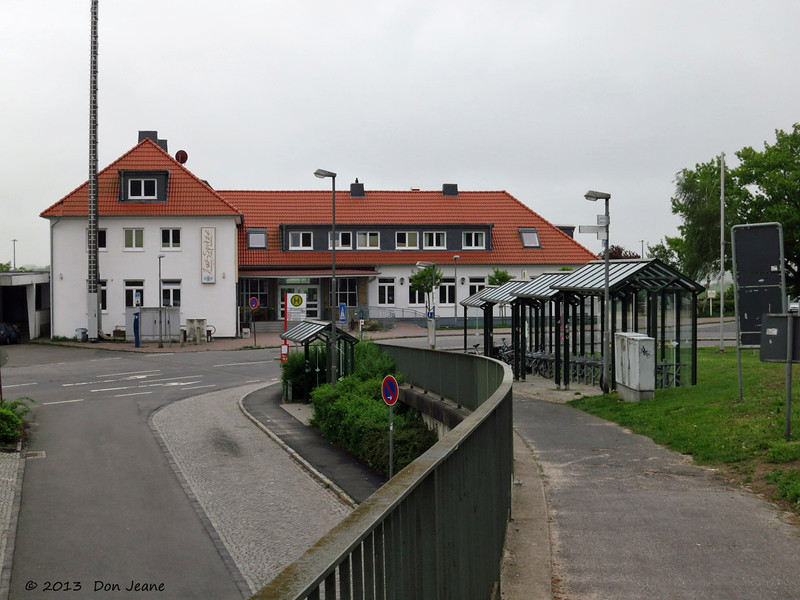 Lauenburg Train Station. Pat's Great-grandparents came from this little town in 1876.
