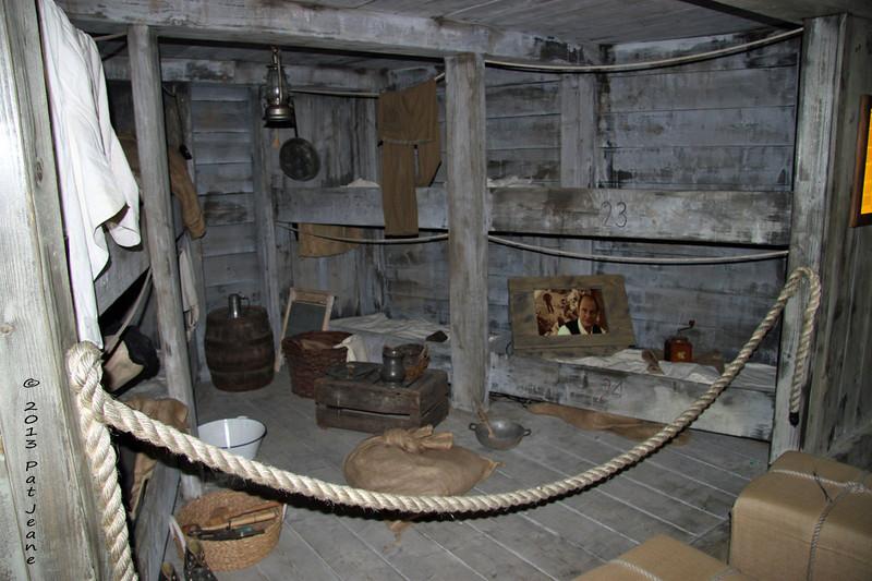 Hamburg Ballinstadt Immigration Museum, May 17, 2013. Between / below deck accomodations.