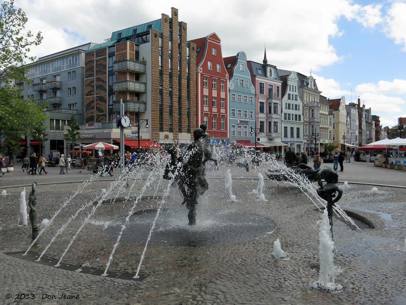 Rostock pedestrian shopping mall, May 23, 2013.