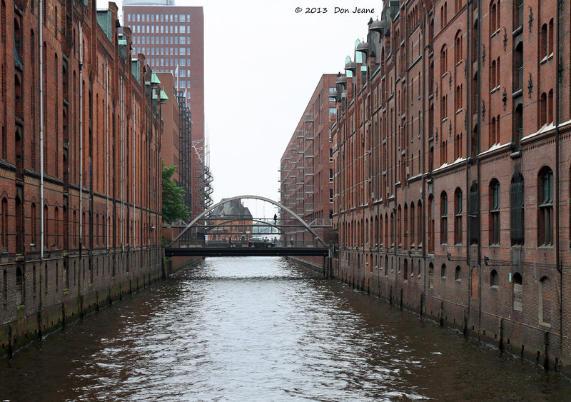 Hamburg canals, May 19. 2013.  The old Warehouse District.