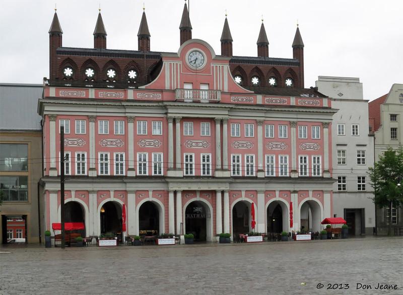 Rostock Rathaus. May 22, 2013.