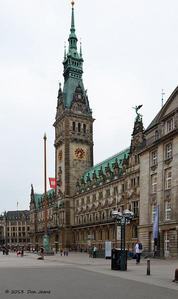 Hamburg Rathaus (City Hall). May 17, 2013.