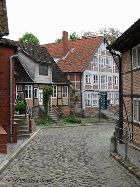 Lauenburg charming city streets. May 18, 2013.