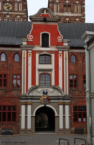 Rathaus entrance, Stralsund, May 24, 2013.