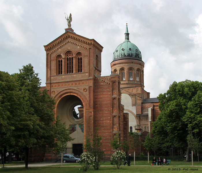 St Michael's, Berlin, May 28, 2013. The middle has not been rebuilt - destroyed in WWII.