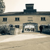 Entrance building and gates of Dachau Concertration Camp