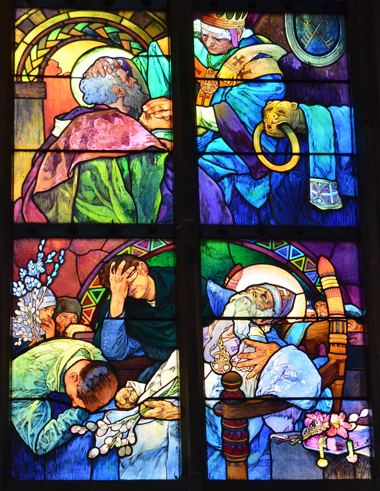 Stained glass window, Prague cathedral