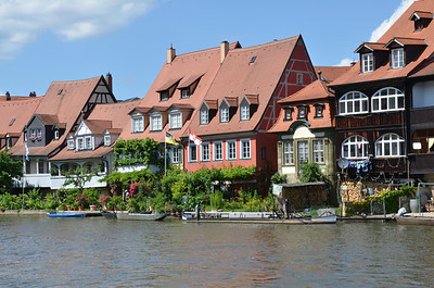 Fishermen's houses along the Regnitz, Bamberg.