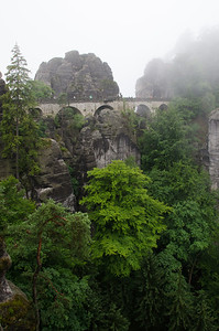 Bastei rocks of Saxon Park, Rathen, Germany
