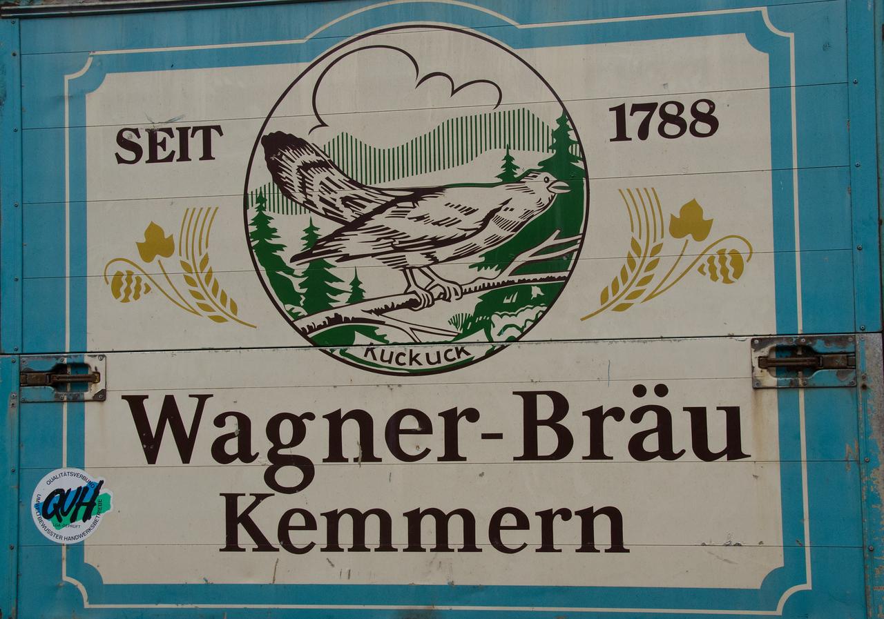Local brewery of Kemmern village, Franconia, Germany