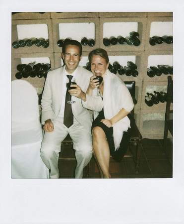 Photo of us taken with a polaroid camera