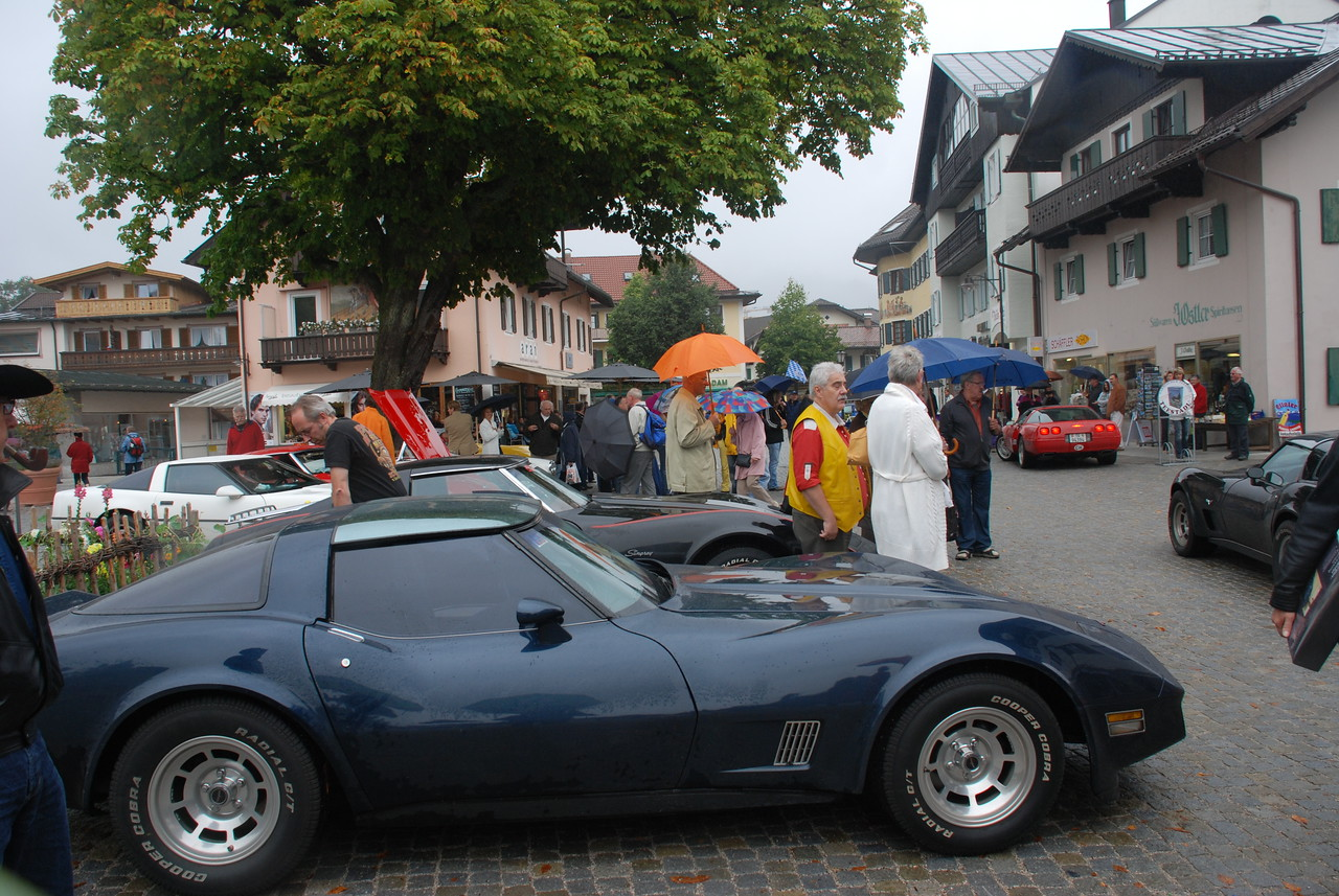 corvette show in town - must have been two dozen of vintage cars