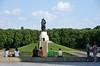 1941 - 1945 Soviet war memorial, Treptower Park, east Berlin, 4 June 2016.  A last look at the cemetery and its Soviet hero.