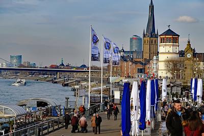 Dusseldorf Rhine waterfront