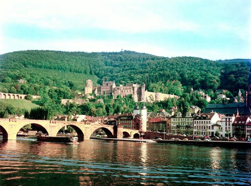 Castle and Old Bridge, Heidelberg, 1976.