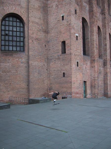 Skateboarding at the Basilica