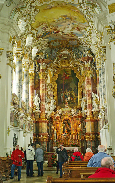 A bit of a cattle market inside, but it's the summit of over-the-top baroque decoration.