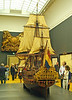 In other galleries it was much less crowded, and the Dutch have had the bright idea of combining pictures with other period artifacts like this magnificent model of a Dutch warship. Well done them.