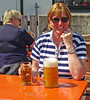 On one of the few  sunny days, we went to Kloster Andechs, where the monks brew their own excellent beer. It seemed as if half of Munich had the same idea. If you ask for a large Weissbier, you get a litre.....