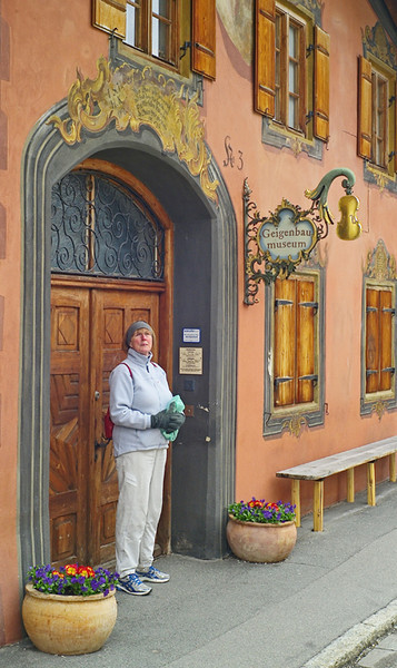 Mittenwald is an important centre for making stringed instruments. We wanted to visit the violin museum, but it was firmly shut...