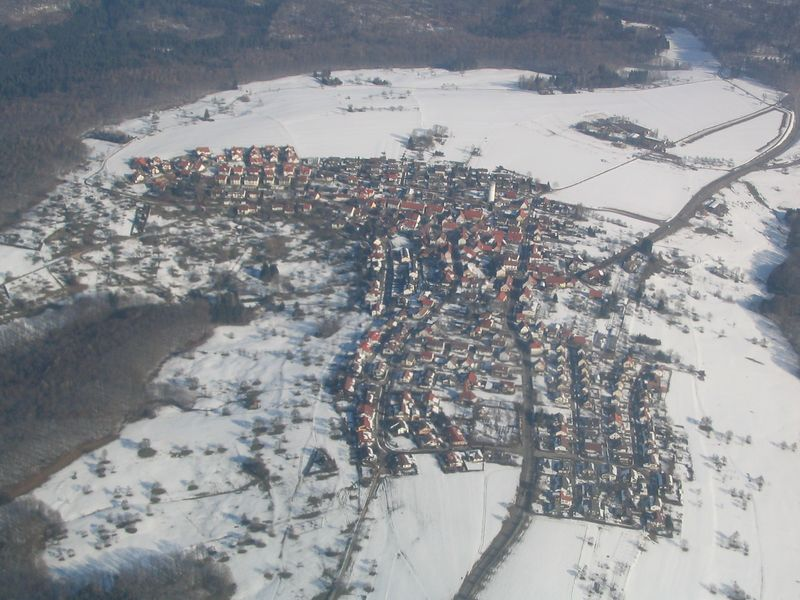 A German village outside of Stuttgart on my way in.