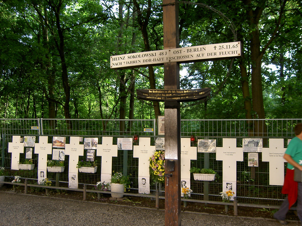 Memorial to people who died trying to get to West Germany
