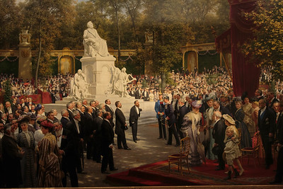 The unveiling of the Richard Wagner monument in the Tiergarten, by Anton von Werner, 1908