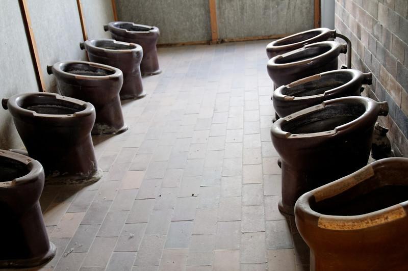 Campo de concentração de Dachau<br /> Prisoner toilets