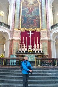 The raised altar and magnificent painting provide the perfect focus for the congregation,