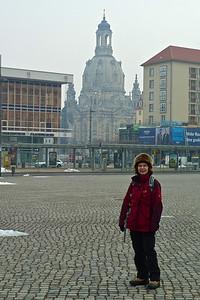 Arriving Dresden, looking toward Frauenkirche