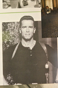 I don't know what the photo of Arnold Schwarzenegger was doing in the Meissen store but there he was.