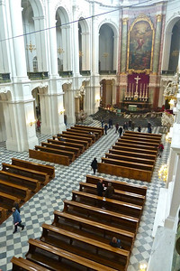 Looking toward the altar from the organ loft