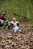 momma, dadda, Addyson taking a break while hiking at Eifle National Park