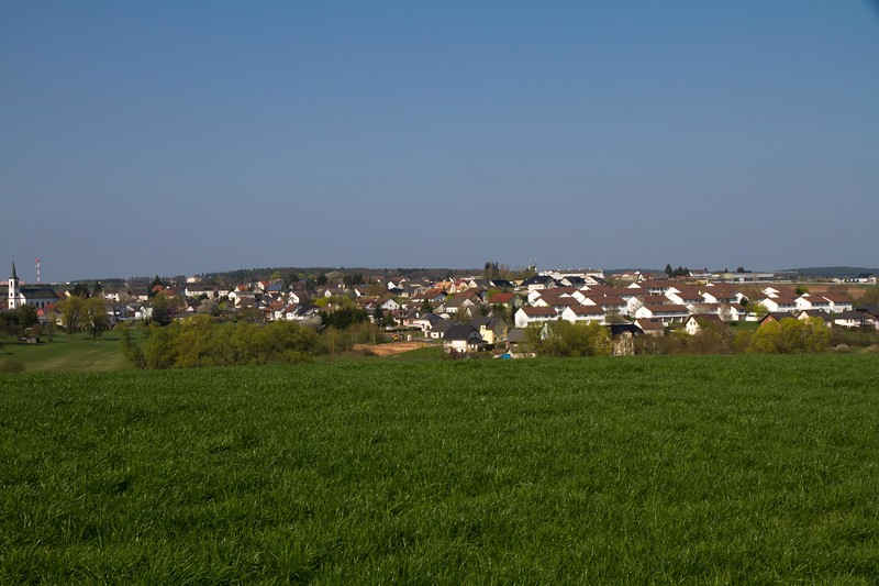 Binsfeld, Germany...look closely you may be able to see the lights associated with the USAF base.