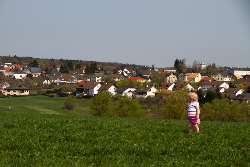 Addyson with Binsfield, Germany in the background.