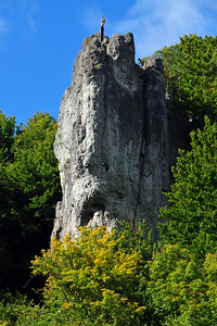 Climbing in the Frankenjura near Obertrubach